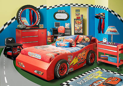 with the exciting disney cars bedroom the bed is a realistic rendition