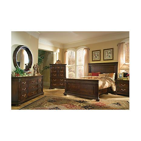 Cherry Bedroom Sets On Pc Bedroom Package Grand Regency Panel Queen 5